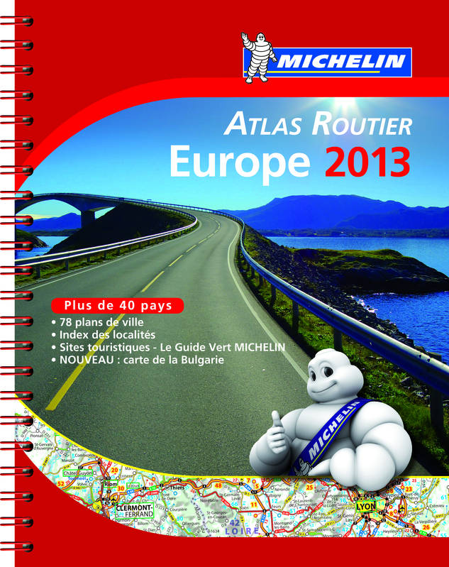 Atlas Routier Europe 2013 a spirale