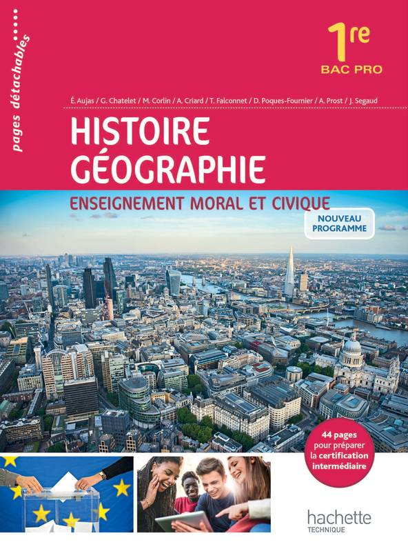 livre histoire g ographie enseignement moral et civique 1re bac pro livre l ve ed 2016. Black Bedroom Furniture Sets. Home Design Ideas