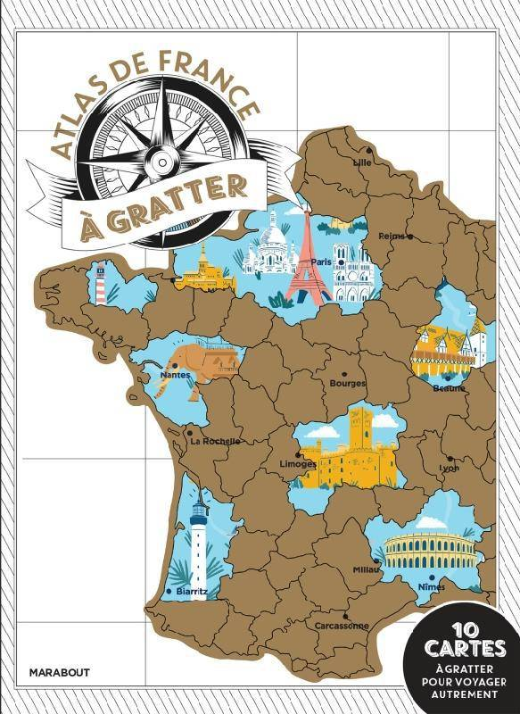 Mon atlas de France à gratter