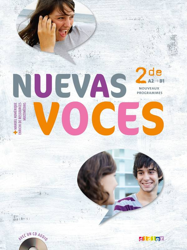 Nuevas Voces 2de - Livre + CD audio, Elève+CD