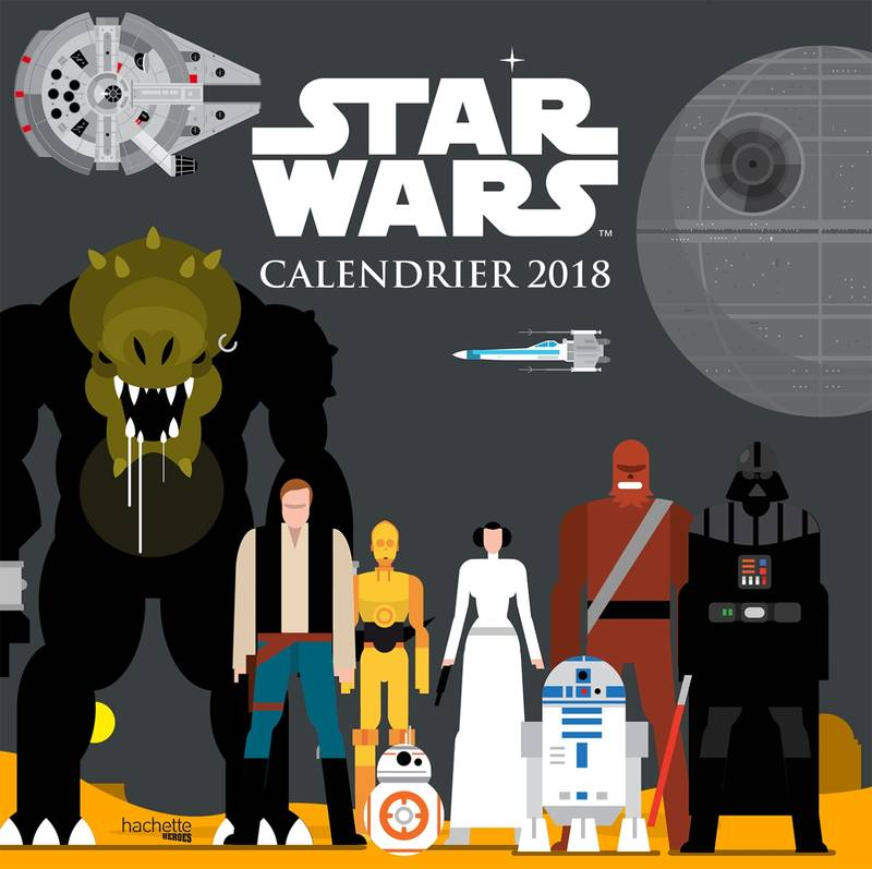 Calendrier 2018 Star Wars Graphics
