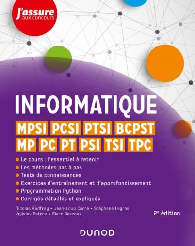 Informatique / MPSI, PCSI, PTSI, TSI, TPC, MP, PC, PT, PSI, BCPST 1 et 2, Mpsi, pcsi, ptsi, bcpst, mp, pc, pt, psi, tsi, tpc