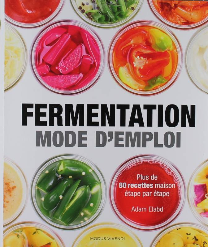 livre fermentation mode d 39 emploi plus de 80 recettes maison tape par tape adam elabd. Black Bedroom Furniture Sets. Home Design Ideas