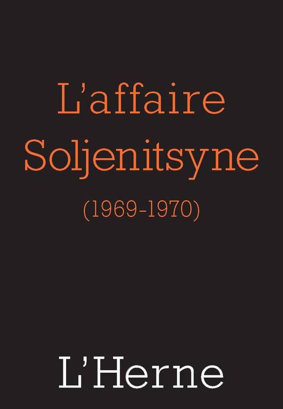 L'affaire Soljenitsyne (1969-1970)