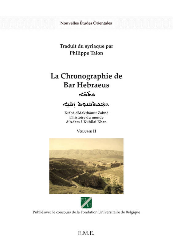 La chronographie de Bar Hebraeus (Volume II)