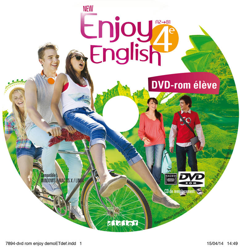 New Enjoy English 4e - DVD-rom de remplacement