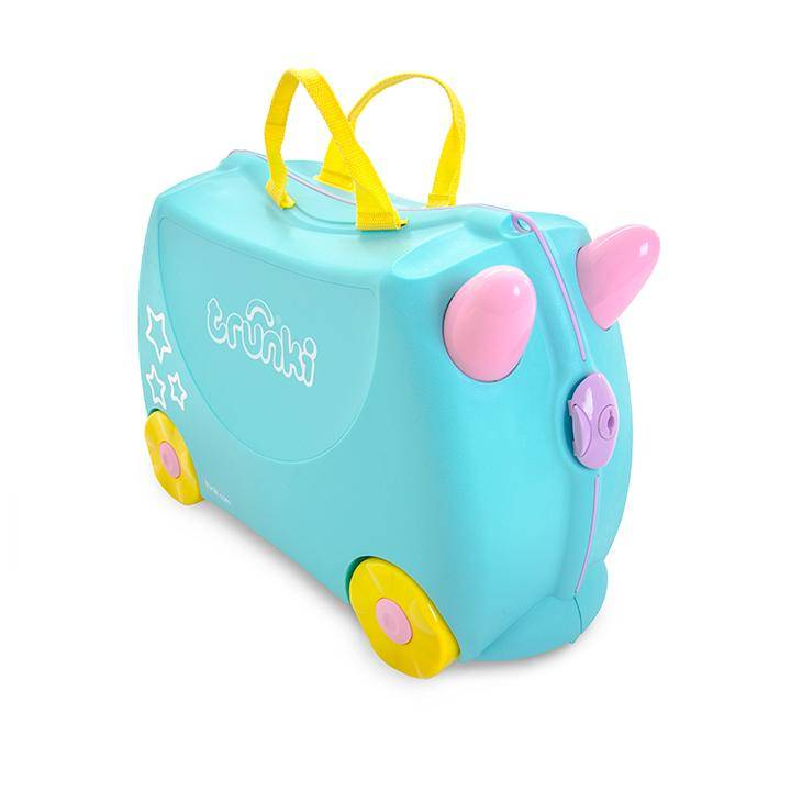 Valise trolley Licorne Trunki ride on