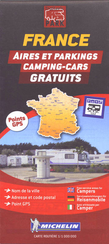 FRANCE - AIRES /PARKINGS/CAMPING-CARS 1/1 000 000