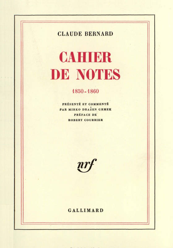 Cahier de notes, (1850-1860)