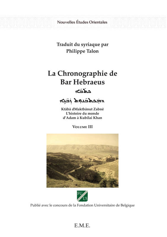 La chronographie de Bar Hebraeus (Volume III)