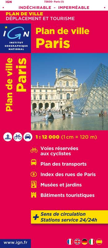 72600 PLAN DE PARIS (INDECHIRABLE) 1/12.000