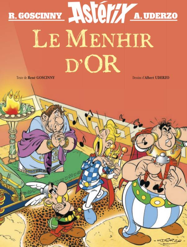 Astérix - Le menhir d'or, Hors collection - Album illustré