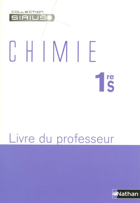 CHIMIE 1RE S PROF 2005