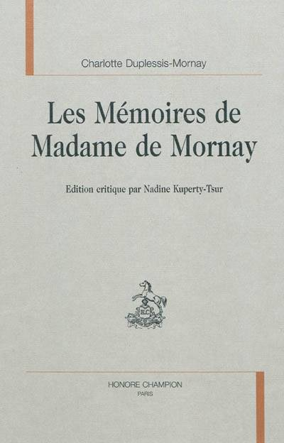 LES MEMOIRES DE MADAME DE MORNAY