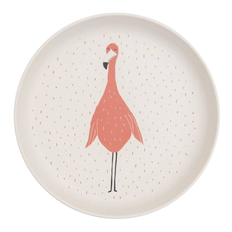 Assiette plate Mrs.Flamingo