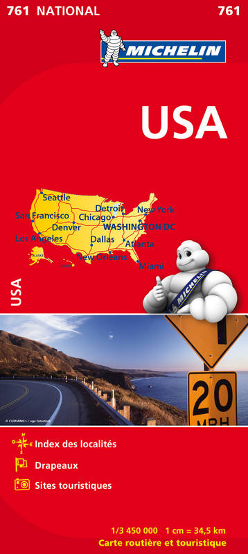 CARTE NATIONALE 761 USA