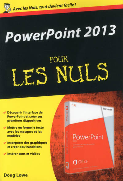 livre powerpoint 2013 poche pour les nuls doug lowe first interactive poche nuls. Black Bedroom Furniture Sets. Home Design Ideas