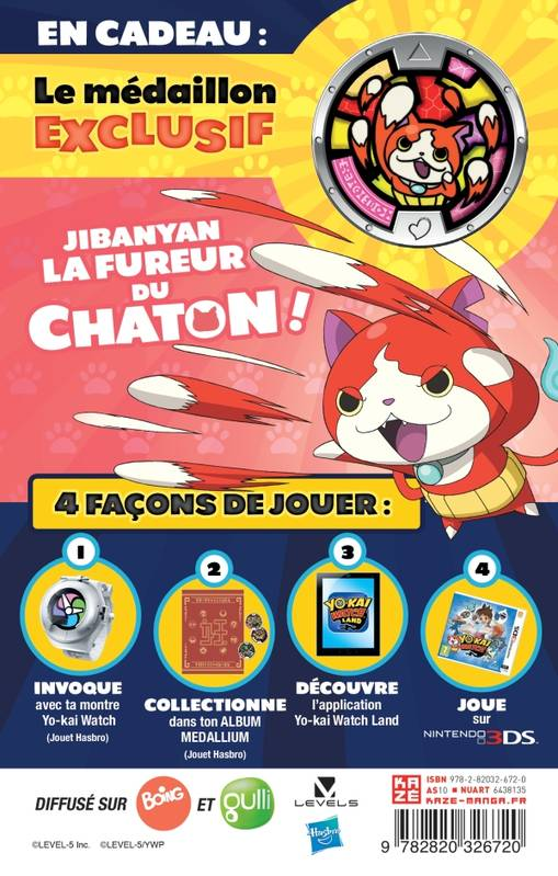 Yo-Kai Watch T01 collector avec medaillon