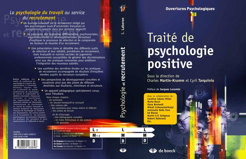TRAITE DE PSYCHOLOGIE POSITIVE