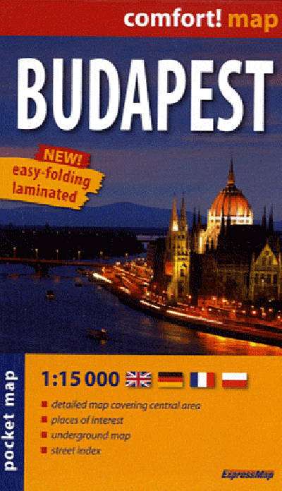 BUDAPEST  1/15.000 (COMFORT !MAP, POCHE)