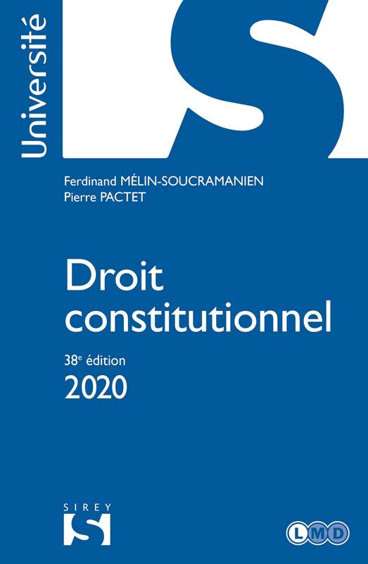 Droit constitutionnel 2020 - 38e éd.