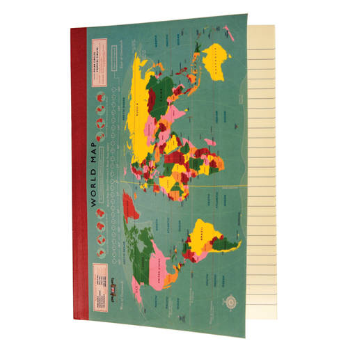 World Map carnet A5
