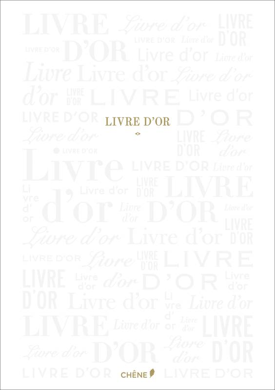 Livre d'or Blanc Grand Format