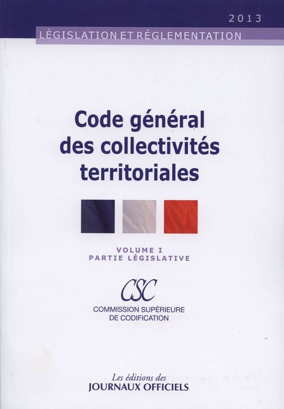 PACK CODE GENERAL DES COLLECTIVITES TERRITORIALES N 20043 T1+T2 2V