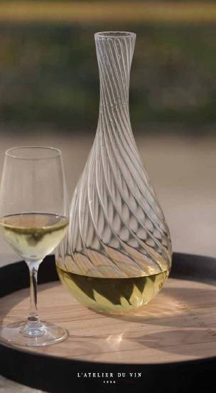 Carafe Spirale & Bouchon Corolle