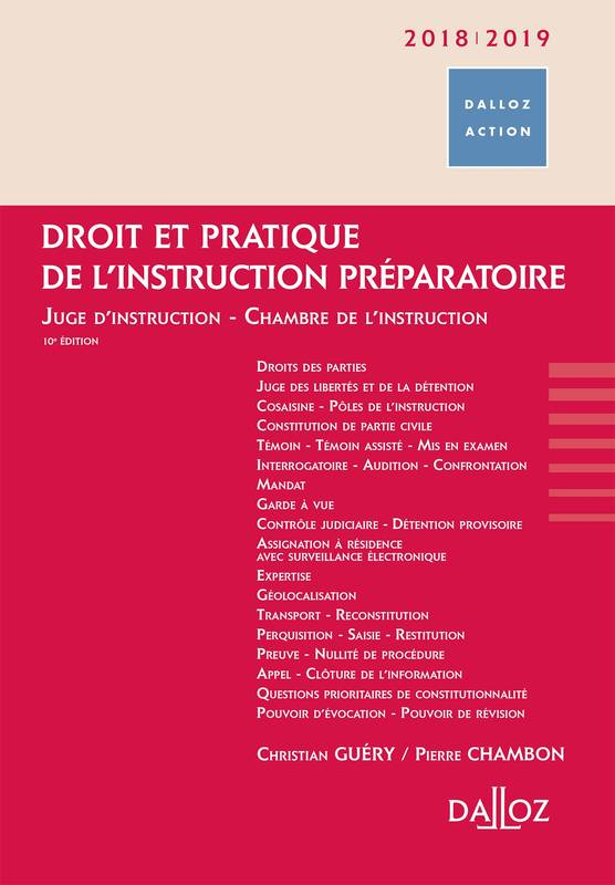 Livre droit et pratique de l 39 instruction pr paratoire for Chambre d instruction