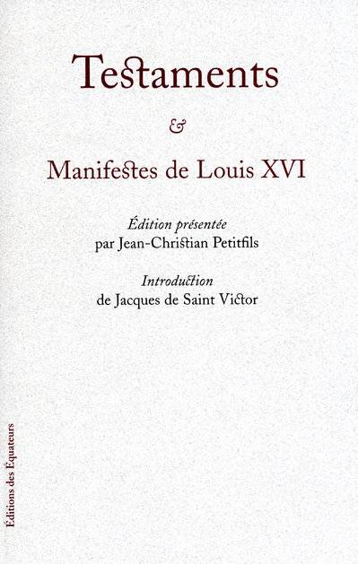 TESTAMENTS LOUIS XVI
