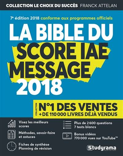 la bible du score iae message 2018 pdf