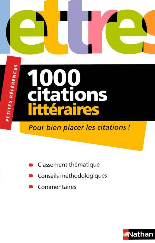 DICT. 1000 CITATIONS LITTERAIRE