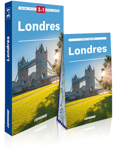 Londres / 3 en 1 : guide, atlas, carte laminée