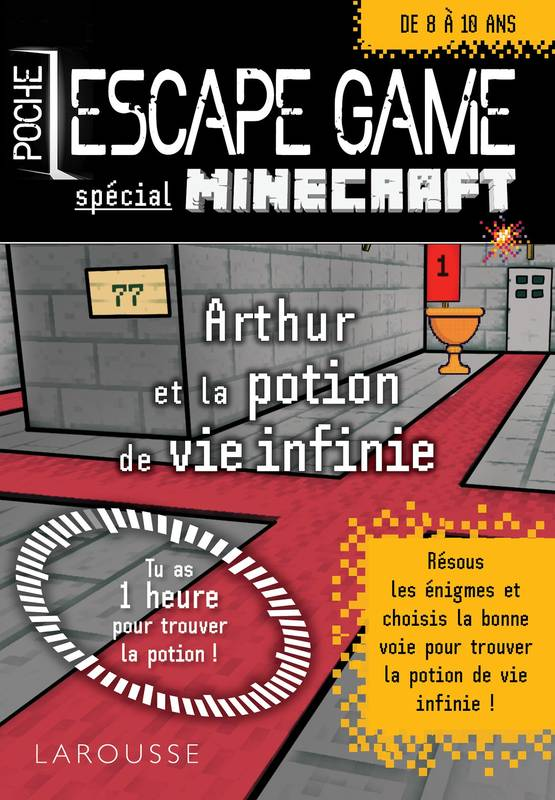 Livre Escape Game De Poche Sp Minecraft La Potion De Vie