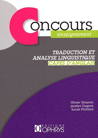 TRADUCTION ET ANALYSE LINGUISTIQUE CAPES, Livre