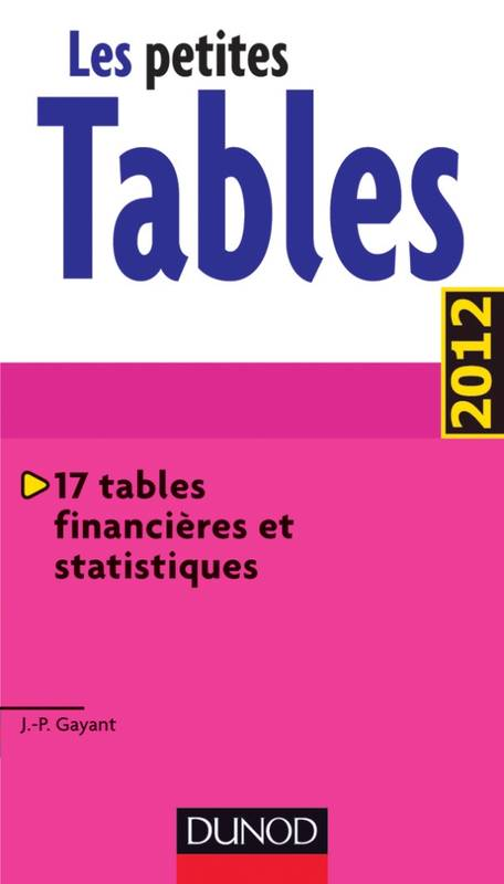 Livre les petites tables 17 tables financi res et for Table financiere