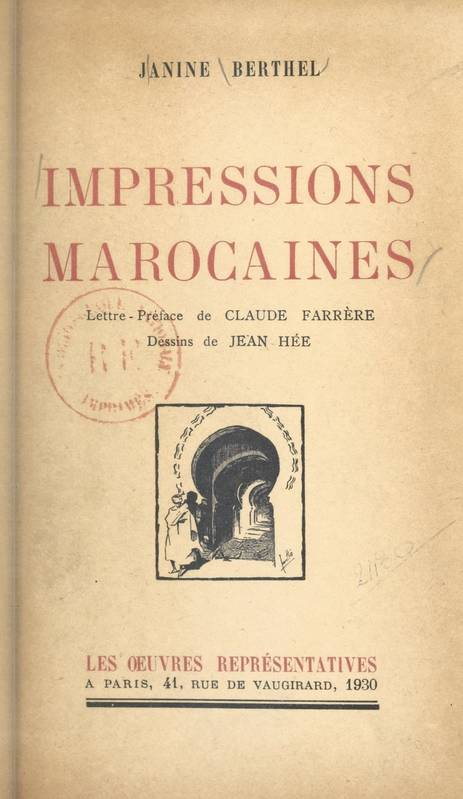 Impressions marocaines