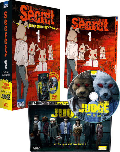 Secret T01 - Pack collector avec DVD film Judge