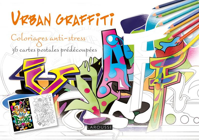 URBAN GRAFFITI coloriages cartes postales
