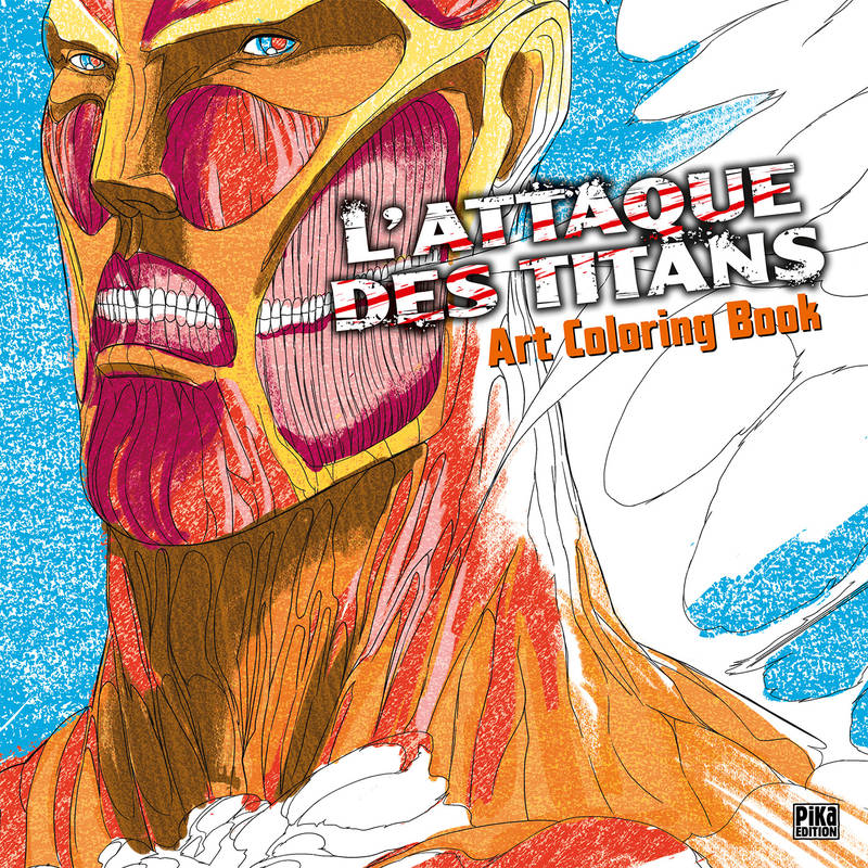 L'attaque des titans - Art colouring book
