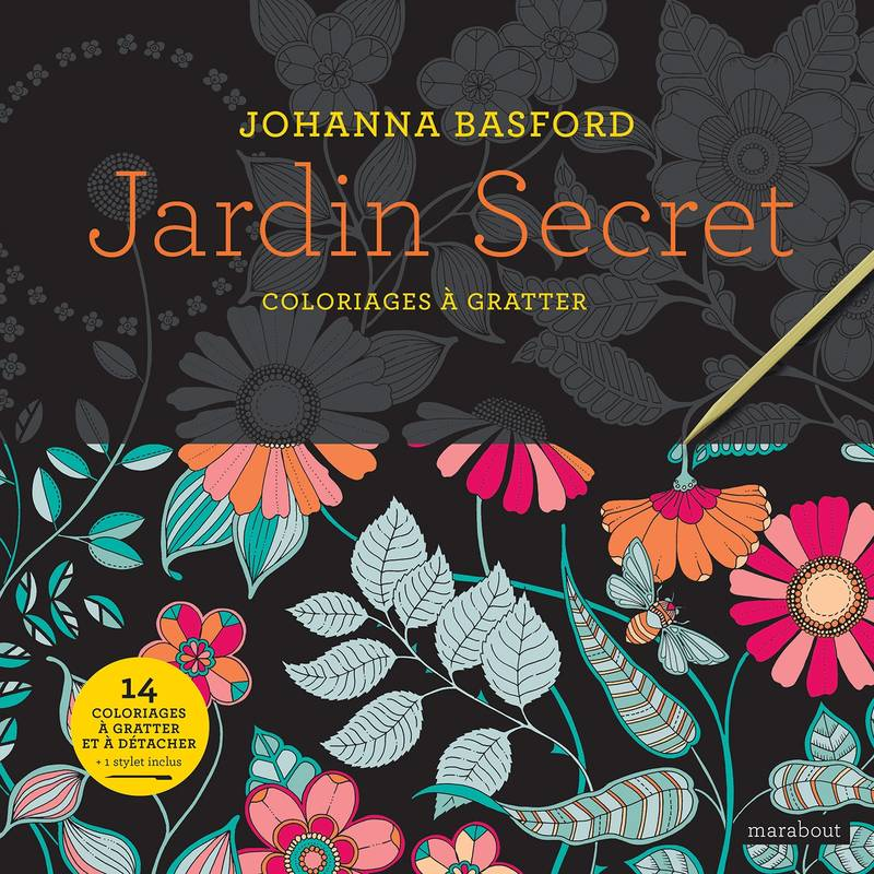 Jardin Secret - Coloriages à gratter