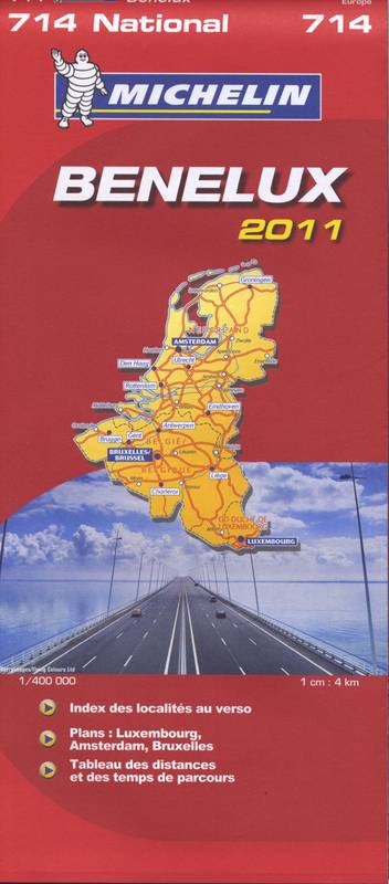CARTE ROUTIERE 714 BENELUX 2011