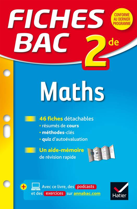 livre fiches bac maths 2de fiches de r vision seconde christophe roland herv kazmierczak. Black Bedroom Furniture Sets. Home Design Ideas