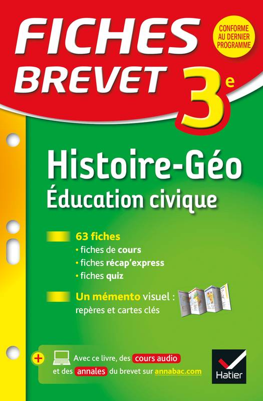 livre fiches brevet histoire g ographie ducation civique. Black Bedroom Furniture Sets. Home Design Ideas