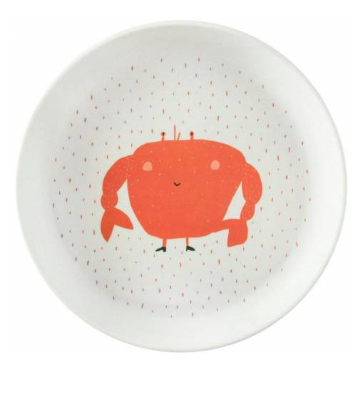 Assiette plate Mrs.Crab