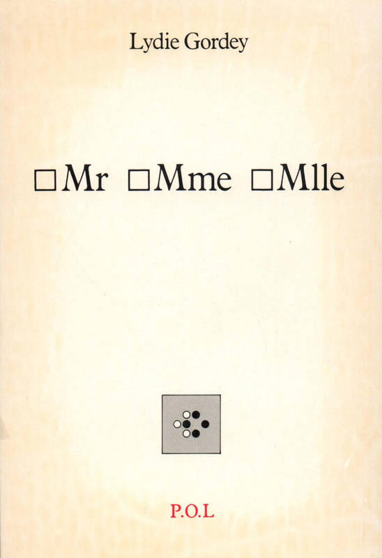 Mr Mme Mlle
