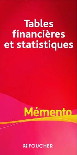 Livre tables financi res et statistiques michelle pascal for Table financiere