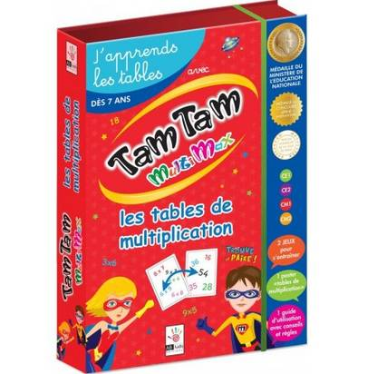 TAM TAM MULTIMAX J'APPRENDS LES TABLES DE MULTIPLI
