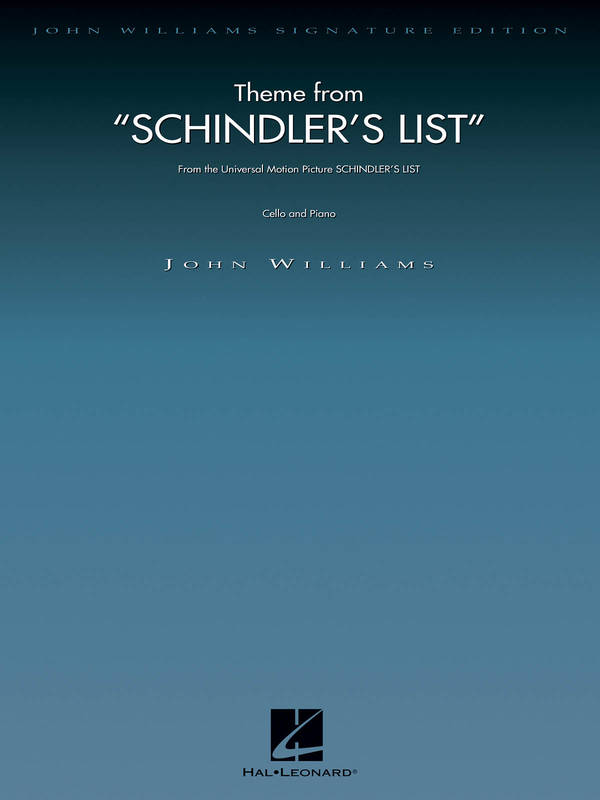 Theme from Schindler's List, for Cello and Piano